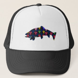 TROUT fish fishing swim aquatic NavinJOSHI NVN60 F Trucker Hat