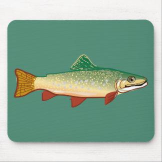 Trout fish illustration art mouse pad