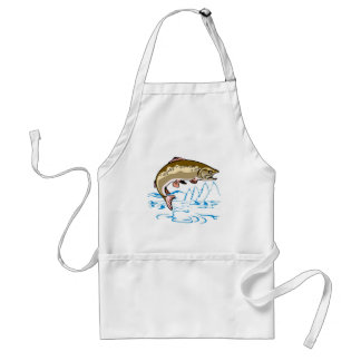 trout fish jumping adult apron