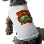 trout fish jumping fly fishing doggie tee shirt