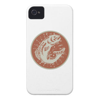 Trout Fish Jumping Retro iPhone 4 Case-Mate Case