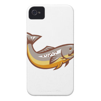 Trout Fish Jumping Retro iPhone 4 Cases