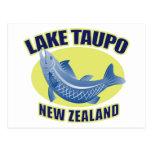 Trout fish lake taupo new zealand post card