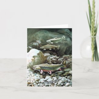 Trout Fish Note Card zazzle_card