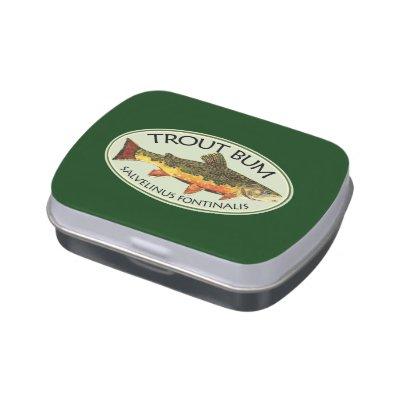 Trout Fisherman Candy Tin