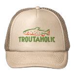 Trout Fisherman Fishing Mesh Hats