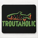 Trout Fisherman Fishing Mouse Pad