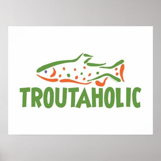 Trout Fisherman Fishing Poster
