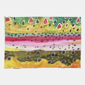 Trout Fisherman Hand Towel