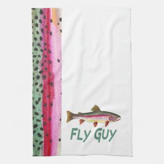 Trout Fisherman Kitchen Towel