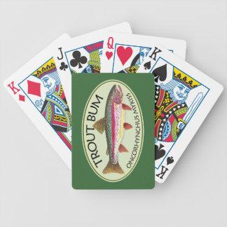 Trout Fisherman Bicycle Poker Deck