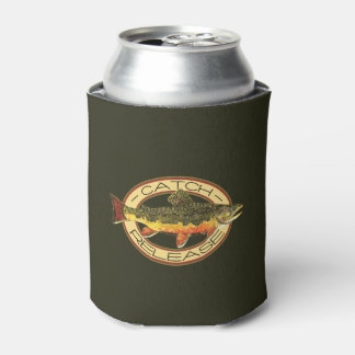 Trout Fisherman's Can Cooler