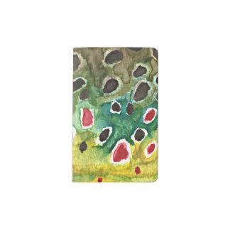 Trout Fisherman's Pocket Moleskine Notebook