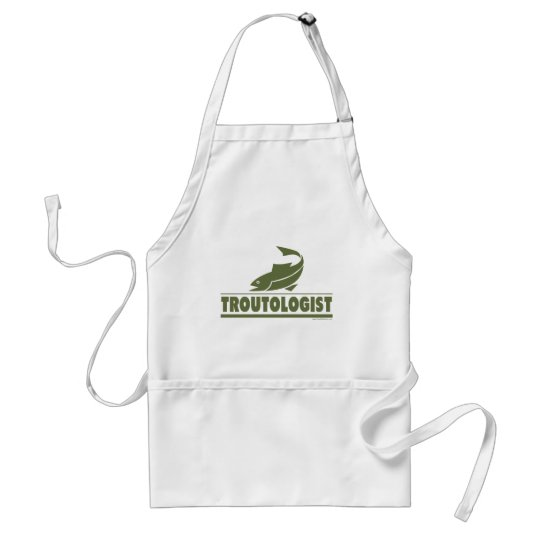 Trout Fishing Adult Apron