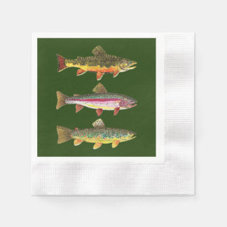 Trout Fishing, Angling Paper Napkin