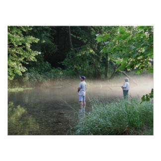 Trout Fishing at Cloud 9 Ranch Club Poster