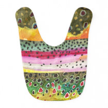 Trout Fishing Baby Bib