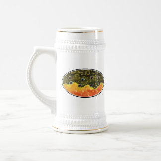 Trout Fishing Beer Stein