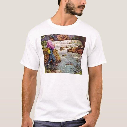 Trout Fishing below the Falls T-Shirt