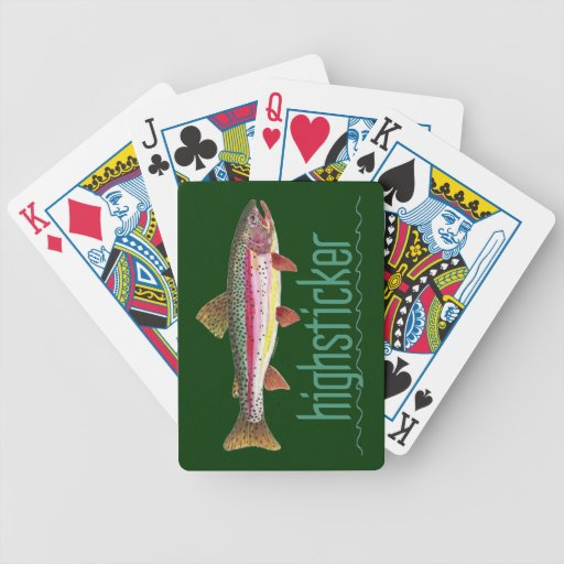 Trout Fishing Bicycle Playing Cards
