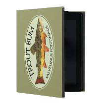 Trout Fishing Bum iPad Folio Case