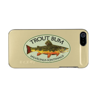 Trout Fishing Bum Metallic Phone Case For iPhone SE/5/5s