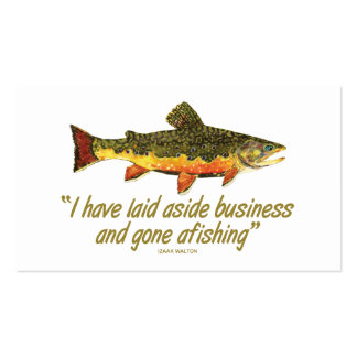 Trout Fishing Business Card Templates