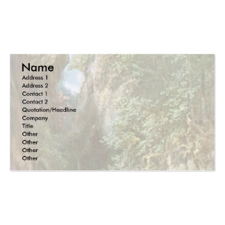 Trout Fishing By Spitzweg Carl Business Card Template