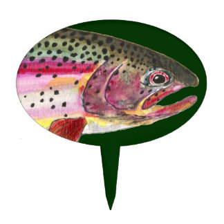 Trout Fishing Cake Topper