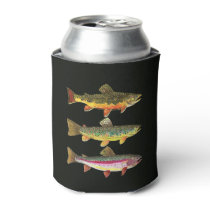 Trout Fishing Can Cooler