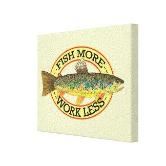 Trout Fishing Canvas Prints