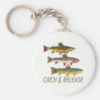 Trout Fishing Catch and Release Keychain