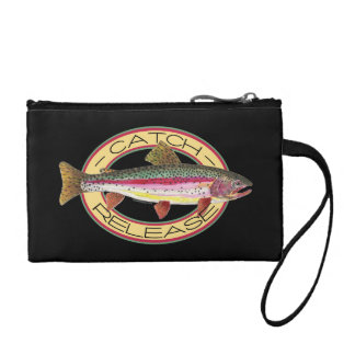Trout Fishing, Catch & Release Coin Wallet