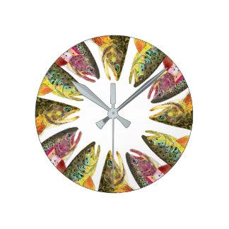 Trout Fishing Clock