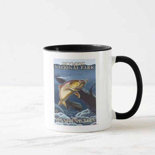 Trout Fishing Cross-Section 4 Mug