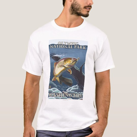 Trout Fishing Cross-Section 4 T-Shirt