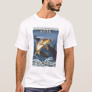 Trout Fishing Cross-Section 5 T-Shirt