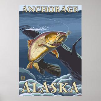 Trout Fishing Cross-Section - Anchorage, Alaska Print