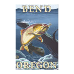 Trout Fishing Cross-Section - Bend, Oregon Stretched Canvas Prints