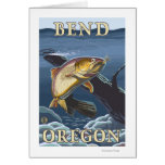 Trout Fishing Cross-Section - Bend, Oregon Greeting Card