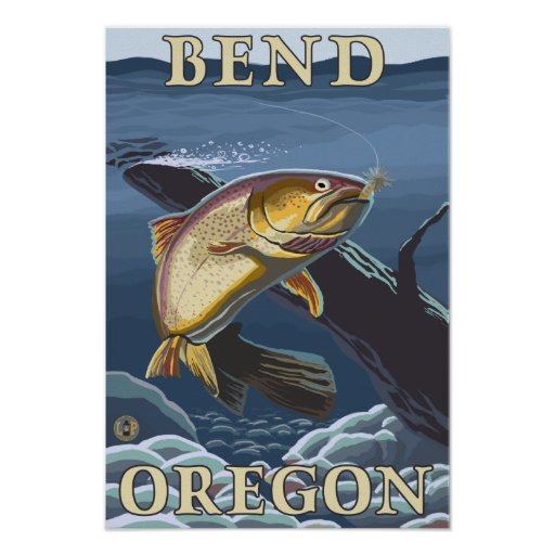 Trout Fishing Cross-Section - Bend, Oregon Poster