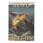 Trout Fishing Cross-Section - Bend, Oregon Wood Print