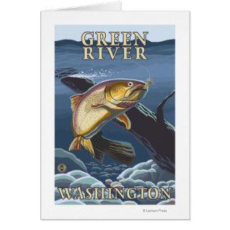 Trout Fishing Cross-Section - Green River, WA Card