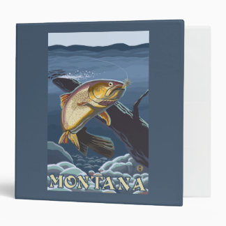 Trout Fishing Cross-Section - Montana 3 Ring Binder