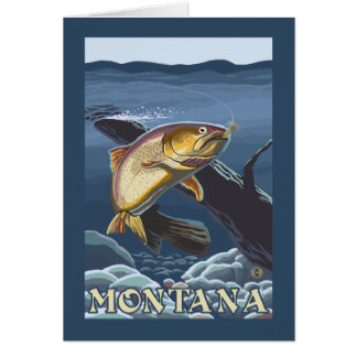 Trout Fishing Cross-Section - Montana Card