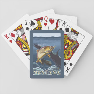 Trout Fishing Cross-Section - Montana Deck Of Cards