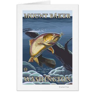 Trout Fishing Cross-Section - Mount Baker, WA Card