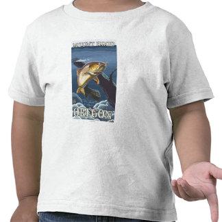Trout Fishing Cross-Section - Mount Hood Shirt