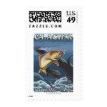 Trout Fishing Cross-Section Stamps