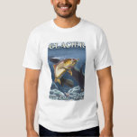 Trout Fishing Cross-Section Tee Shirts
